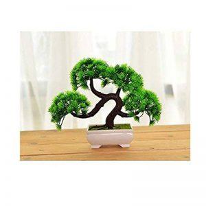 1 pièce Pin de Bienvenue Bonsaï emulé Simulation décoratifs Arbres Artificielles Faux Vert Pot plantes Ornemants Interieurs de Maisonnerie de la marque Domire image 0 produit