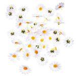 120 Pièces Têtes de Fleurs de Marguerite Artificielle Blanc Gerbera Fleurs en Tissu pour Bonnet de Pâques Décoration de Mariage et DIY Artisanat de la marque Frienda image 6 produit