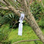 200pcs Plastique Blanc Plante Arbre balises Lables 2x 20cm enveloppant à suspendre balises Chambre d'enfant Jardin Piquets Grande Surface d'écriture de la marque G2PLUS image 1 produit