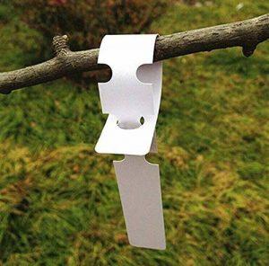 200pcs Plastique Blanc Plante Arbre balises Lables 2x 20cm enveloppant à suspendre balises Chambre d'enfant Jardin Piquets Grande Surface d'écriture de la marque G2PLUS image 0 produit