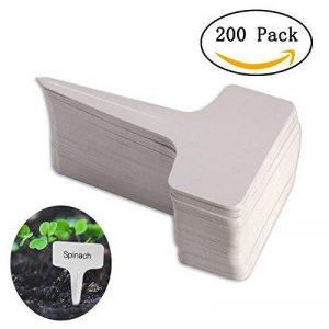 200pcs t-type PVC imperméable marqueurs T Tag plante - Premium Nursery Garden étiquettes - Eco Friendly - blanc grisâtre (6 x 10cm) de la marque Kalolary image 0 produit