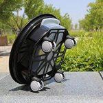 41cm Soucoupe pour Caddy Dolly Trolley rond pour plantes en bac Palette avec roues et un Réservoir d'eau 41 Noir de la marque Antetok image 2 produit