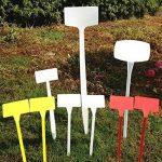 50 pcs étanche réutilisable en plastique Plante étiquettes type de maison Chambre d'enfant Jardin étiquettes Tags marqueurs, 50PCS Wihte Curved T-Type de la marque G2PLUS image 4 produit