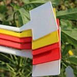 50 pcs étanche réutilisable en plastique Plante étiquettes type de maison Chambre d'enfant Jardin étiquettes Tags marqueurs, 50PCS Wihte Curved T-Type de la marque G2PLUS image 6 produit