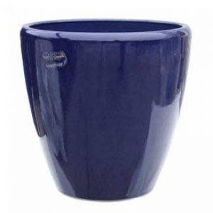 98619740Pot rond en grès Bleu «akaste Azur» 40x40cm (HxDm) bleu de la marque Gartentraum.de image 0 produit