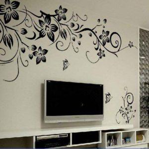 Amovible Stickers Muraux Fleurs Mur eTiquette Mur Mural Maison DeCor Chambre DeCor Enfants HG-0275 de la marque Rainbow Fox image 0 produit