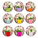 Assortiment de 10pots de fleurs colorés à suspendre sur balcon, métal de la marque Ndier image 3 produit