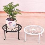 Beiguoxia Pot de fleurs rond support pour plantes fer Rack Home Garden balcon Décor, Métal, noir, Taille unique de la marque beiguoxia image 1 produit