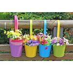 BESTOMZ 5pcs Pot de Fleur Balcon à Suspendre en Métal Pot Suspendue Extérieur pour Jardin Balcon(Couleurs Mixtes) de la marque BESTOMZ image 5 produit