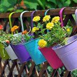 BESTOMZ 5pcs Pot de Fleur Balcon à Suspendre en Métal Pot Suspendue Extérieur pour Jardin Balcon(Couleurs Mixtes) de la marque BESTOMZ image 4 produit