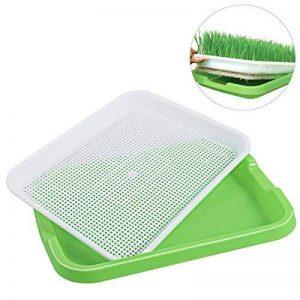 BESTOMZ Bac à germes de graines Plateaux de germination Plateaux de démarrage de semis Bac à légumes de la plante Sain cultivateur d'herbe de blé de la marque BESTOMZ image 0 produit