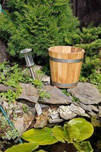 Cache-pot de grande qualité, pot de fleurs, jarre en bois robuste de conifère (HÊTRE) – disponible en nombreuses tailles (350 x350) de la marque evama image 0 produit