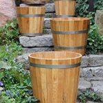 Cache-pot de grande qualité, pot de fleurs, jarre en bois robuste de conifère (HÊTRE) – disponible en nombreuses tailles (350 x350) de la marque evama image 4 produit