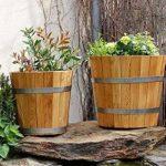 Cache-pot de grande qualité, pot de fleurs, jarre en bois robuste de conifère (HÊTRE) – disponible en nombreuses tailles (500 x 500) de la marque evama image 1 produit