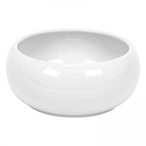 Cache pot rond Piano en ceramique, bas bol, en blanc, diam. 24 cm de la marque Polnix image 0 produit