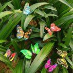 """Cefan Ensemble de 30 papillons décoratifs sur tige 9,9cm Pour jardin, pot de fleurs 3.9"""" de la marque Cefan image 1 produit"""