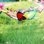 """Cefan Ensemble de 30 papillons décoratifs sur tige 9,9cm Pour jardin, pot de fleurs 3.9"""" de la marque Cefan image 2 produit"""
