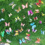 """Cefan Ensemble de 30 papillons décoratifs sur tige 9,9cm Pour jardin, pot de fleurs 3.9"""" de la marque Cefan image 3 produit"""