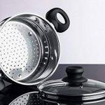Chefs Star Pile d'acier inoxydable et cuiseur vapeur 3 pièces Argent de la marque Chefs Star® image 4 produit