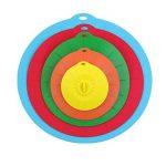 Coque en silicone couvercles 4,6,8,10,12respectueux Utilisez votre Aspiration couvercles pour votre bols, tasses, pots, casseroles et poêles, micro-ondes et coque en silicone Bol couvertures de la marque Mowes image 1 produit