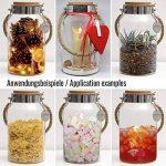 Dekovita bocal de rangement 5l h:30cm d:16cm o:10,6cm lanterne de jardin couvercle en liège bocal en verre verre décoratif lanterne vase de la marque DEKOVITA image 2 produit