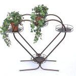 Echelle à fleurs Cœur Art.81 Porte fleurs Colonne à fleurs 64cm Porte-plantes Etagère de la marque DanDiBo image 1 produit