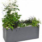 EDA Plastiques Jardinière VOLCANIA décor pierre gris anthracite - 99,5 x 39 x 43-98 L de la marque EDA Plastiques image 1 produit