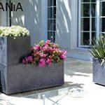 EDA Plastiques Jardinière VOLCANIA décor pierre gris anthracite - 99,5 x 39 x 43-98 L de la marque EDA Plastiques image 2 produit