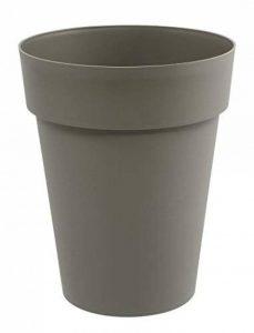 EDA Plastiques Vase haut TOSCANE taupe - Ø44 x H.53cm - 50 L de la marque EDA Plastiques image 0 produit