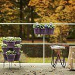 Elho Corsica Accrocher Triple Jardinière Balcon - Cerise de la marque Elho image 2 produit
