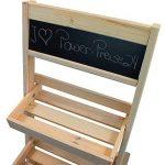 Escalier pour pots de fleurs en bois FSC® 74 x 39 x 40 cm avec tableau - Bois impregné et résistant aux intempéries et durable en couleur bois naturel de la marque PROHEIM image 3 produit