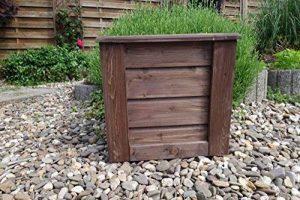 evama Pot, pot de fleurs, boîte Bois seau en chêne solide pour le jardin - Disponible en plusieurs tailles 55x55x55x de la marque evama image 0 produit