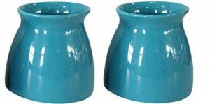 Fingey Intérieur/extérieur Pot de fleurs–Faïence Pot à plantes en céramique (lot de 2) bleu de la marque Fingey image 0 produit