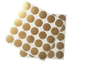 Fleur de vie des autocollants, des étiquettes, doré, diamètre 2,5 cm, lot de 50 de la marque EAST-WEST Trading GmbH image 0 produit