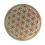 Fleur de vie des autocollants, des étiquettes, doré, diamètre 2,5 cm, lot de 50 de la marque EAST-WEST Trading GmbH image 1 produit