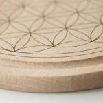 Fleur de Vie–Planche à petit-déjeuner en bois–Grande Fleur de vie de la marque Tevia image 4 produit