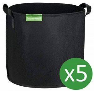 GardenMate® 5x Sacs Jardinière à plantes en tissu non tissé 30L - BLACKLINE de la marque GardenMate® image 0 produit