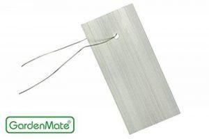 GardenMate® Lot de 25 étiquettes à suspendre en tôle zinguée inoxydable avec fils inox de la marque GardenMate® image 0 produit