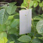 GardenMate® Lot de 25 étiquettes à suspendre en tôle zinguée inoxydable avec fils inox de la marque GardenMate® image 2 produit