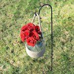 GrayBunny Gb-6822Berger Crochet, 88,9cm, 4-pack, Premium en acier (pas de plastique) 3/25,4cm de diamètre à la rouille Crochets, noir, GB-6822 de la marque GrayBunny image 2 produit