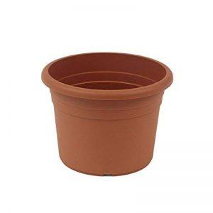 greemotion Pot de fleurs rond en plastique Ø 45cm 26L - Pot pour plantes extérieures et intérieures - Pot de jardin couleur terre cuite de la marque greemotion image 0 produit