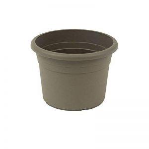 greemotion Pot de fleurs rond en plastique Ø 60cm 61L - Pot pour plantes extérieures et intérieures - Pot de jardin couleur taupe de la marque greemotion image 0 produit
