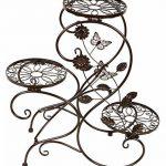 HLC-Bronze Porte Pot Pots de Plante Fleurs 3 Etagere Support Jardin en Metal Fer de la marque HLC image 1 produit