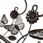 HLC-Bronze Porte Pot Pots de Plante Fleurs 3 Etagere Support Jardin en Metal Fer de la marque HLC image 2 produit