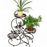 HLC-Bronze Porte Pot Pots de Plante Fleurs 3 Etagere Support Jardin en Metal Fer de la marque HLC image 3 produit