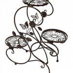HLC-Bronze Porte Pot Pots de Plante Fleurs 3 Etagere Support Jardin en Metal Fer de la marque HLC image 4 produit