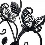 HLC-Noir Porte Pots Plante Fleurs 3 Etagere Support Jardin en Metal Fer de la marque HLC image 2 produit