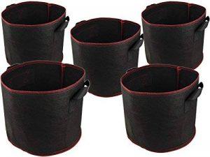 HOGAR AMO Lot de 5 Sac de Croissance Plantes Jardinière, Pots Géotextile non tissé 5 gallons avec Poignées pour Jardin Maison de la marque HOGAR AMO image 0 produit