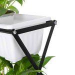 Ikayaa pliable en métal à 4étages pour plantes avec support de support pour pot de jardin Pot de fleurs avec support écran étagère de la marque IKAYAA image 5 produit