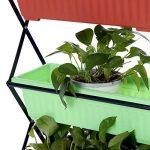 Ikayaa pliable en métal à 4étages pour plantes avec support de support pour pot de jardin Pot de fleurs avec support écran étagère de la marque IKAYAA image 6 produit